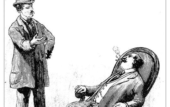 Contrasto fra un borghese e un socialista