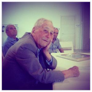Ivo Mafucci. Dietro di lui Bruno Grassi e Franco Ceccarelli